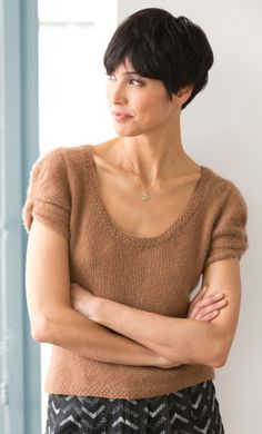 This light top made with the LB Collection cashmere would feel sooo good against the skin...