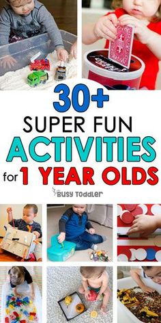 30 Easy Activities for 1 Year Olds #toddlers #toddleractivities #toddleractivity #oneyearolds #tabyactivities #easytoddleractivities