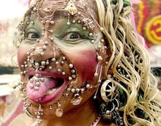 Holy piercings! I think I found a match made in heaven for the guy with lots of these facial piercings!!!