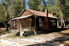 old cabins | Several old cabins like this can be found at the private hunting and ...