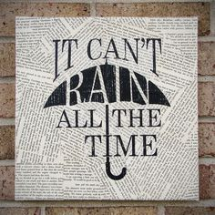 """Quote on Canvas: """"It Can't Rain All The Time"""" The Crow - Canvas Art / Prints on Canvas. $35.00, via Etsy."""