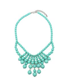 TURQUOISE BIB NECKLACE (more colors) I love this colour :)