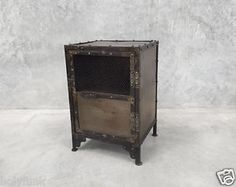 This Metal Locker Cabinet Is An Interesting Piece Perfectly Suited As A  Bedside Table, End Table By The Couch, Storage Solution Next To The TV Or A  Little ...