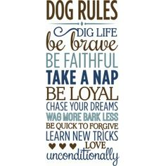 Silhouette Design Store - View Design #83133: dog rules
