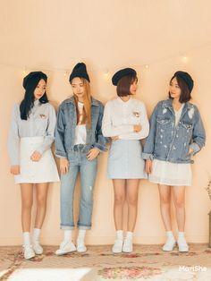 K Daily 2016 girlfriend look (MT) Korea Fashion, Asian Fashion, Look Fashion, Girl Fashion, Fashion Outfits, Womens Fashion, Fashion Trends, Korean Outfits, Trendy Outfits