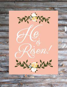 He is Risen - Free Easter Printable from Brepurposed