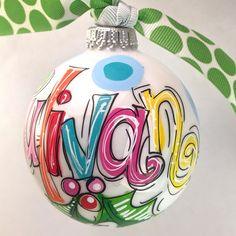 Monogrammed Ornament, personalized