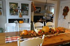 Folded Gingham: The Kitchen in Fall...