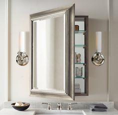 Luxury Round Mirror Recessed Medicine Cabinet