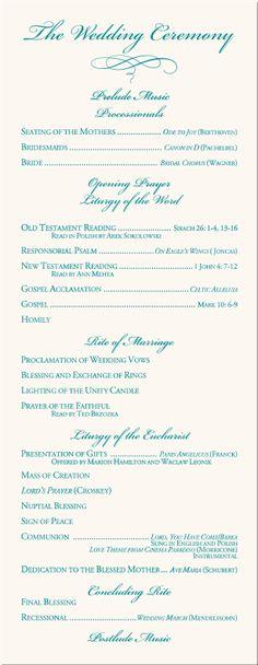 wedding program examples | Calla Lily Wedding Program Examples-Wedding Program Wording-Wedding ...