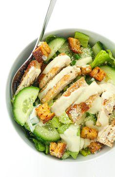 sałatka Cezar z kurczakiem Grill Party, Cobb Salad, Cucumber, Zucchini, Grilling, Vegetables, Cooking, Food, Salads