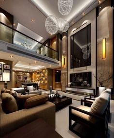 #Livingroom decor in chocolat color scheme... #InteriorDesign  Get Inspired http://www.brabbu.com/en/inspiration.php