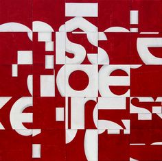 Post Dogmatist Painting #706 - 2014 - paper and acrylic panel by Cecil Touchon - 57.75 x 57.75 inches