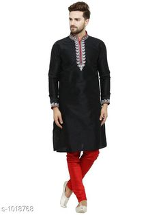 Kurta Sets Ethnic Fancy Jacquard Men's Kurta Set Fabric: Kurta- Jacquard Pyjama- Jacquard Sleeves: Kurta- Full Sleeves Are Included Size: Kurta- S M L XL XXL (Refer Size Chart For Details) Pyjama- S- 28 in M- 30 in L- 32 in XL- 34 in XXL- 36 in        Length: Kurta- Refer Size Chart Pyjama - Up To 50 in Type: Stitched Description: It Has 1 Piece Of Men's Kurta and 1 Piece Of Men's  Pyjama Pattern: Solid Country of Origin: India Sizes Available: S, M, L, XL, XXL   Catalog Rating: ★4.2 (388)  Catalog Name: Men's Ethnic Fancy Jacquard Kurta Sets Vol 5 CatalogID_122818 C66-SC1201 Code: 157-1018768-5202