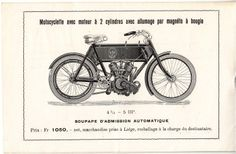 Motorcycle, two-cylinder, V. Antoine fils & C°, Liège, Belgium, 1906 #Booktower