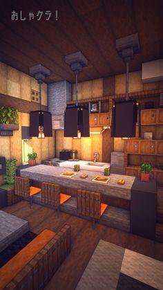 How to build Beautiful House - Minecraft Minecraft World, Modern Minecraft Houses, Minecraft House Plans, Minecraft Mansion, Minecraft Houses Blueprints, Minecraft House Designs, Minecraft Buildings, Minecraft Kitchen Ideas, Minecraft Restaurant