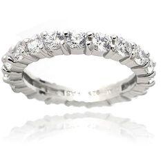 Zirconia Ice Swarovski Zirconia Sterling Silver Eternity Ring Band - Walmart.com