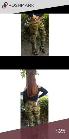 "Soldier Girl Leggings (Camouflage/Military Print) The most comfortable and softest leggings! Wear it to the gym, yoga, or even on a night out!  Comfortable elastic waist band, stretchy, and flattering fit!  ✔One size fits 2-16 (XS-XL) ✔Content: 92% Polyester 8% Spandex. ✔Inseam: 26"" 🚫Sorry, but not accepting any offers on boutique items, thank you for your understanding!🚫 Pants Leggings"