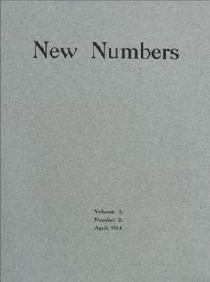 New numbers #12 : April 1914