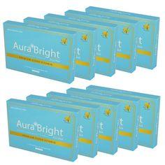 ขายถูก Aura Bright Super Vitamin ออร่า ไบรท์ ซุปเปอร์ วิตามิน บรรจุ 15 แคปซูล แพคเกจใหม่ (10 กล่อง) ราคาถูก พร้อมส่ง ส่งฟรีถึงบ้าน เก็บเงินปลายทาง