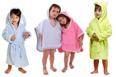 Big kids bath robes and ponchos in assorted colors and styles are on sale for up to 53% off today!