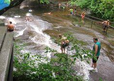 Sliding Rock Waterfall, North Carolina