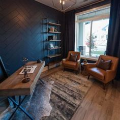 Looking for Home Office Ideas? Still have no idea how to design office rooms? We collect commercial office decor, including home office design, office inspiration and small office idea. Men's Home Offices, Masculine Home Offices, Masculine Office Decor, Man Office Decor, Modern Office Decor, Office Interior Design, Office Interiors, Home Interior, Home Office Setup