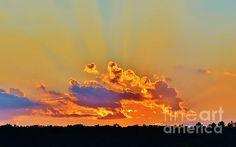 Sunset - My Favorite Color by Anne Clark #sunset #print #art #zen #peaceful