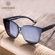 6ef871b5f4e COLOSSEIN Cat Eye Luxury Sunglasses Women Brand Designer Retro Female Sun  Glasses For Women Men Oculos