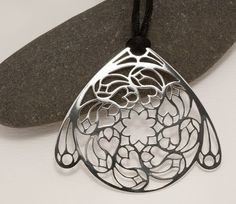Sterling silver cathedral window pendant