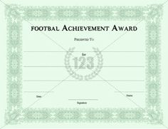 Sports Certificate Template  Certificate Templates  Sports