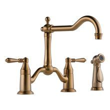 View the Brizo 62536LF Tresa Kitchen Faucet Double Handle with Metal Lever Handles and Side Spray at FaucetDirect.com.