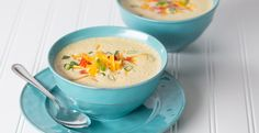 Cauliflower and cheddar team up in this healthy, hearty, creamy soup.
