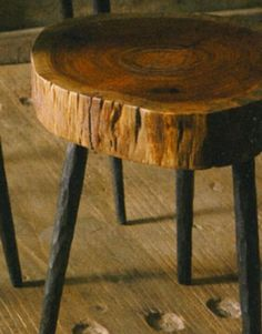 Rustic foot stool iron legs