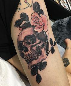 Body Tattoos, I Tattoo, Anchor Thigh Tattoo, Dermal Anchor, Tattoos For Women, Pitbulls, Piercings, Skull, Australia