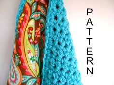 Reversible Crochet Blanket Pattern - Pretty cotton pattern on one side, crochet goodness on the other!