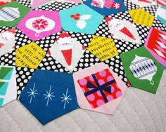 While I have made numerous handmade items for Christmas gift giving I have made very few items that are intended for Christmas decorating despite having several beautiful Christmas fabric collections