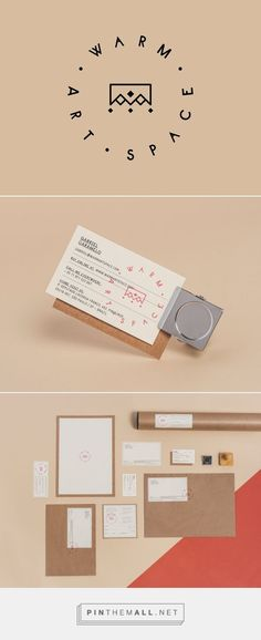 Stationery and branding for Warm Art Space. On Stationary design, stationary branding, stationary business, stationary mockup, stationary printable Stationary Branding, Business Stationary, Stationary Design, Logo Branding, Branding Design, Menu Design, Design Art, Stationary Printable, Brand Identity