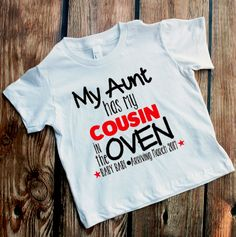Cousin Shirts Bun in the Oven Big Cousin to Be New Cousin Reveal Shirts Announcement Shirts UNISEX TEES Personalized - Layla Baby Name - Ideas of Layla Baby Name - Cousin Shirts Bun in the Oven New Cousin by VazzieTees on Etsy Baby Announcement To Parents, Cute Baby Announcements, Creative Pregnancy Announcement, Pregnancy Reveal Photos, Thanksgiving Pregnancy Announcement, Gender Reveal Shirts, Baby Gender Reveal Party, Dad To Be Shirts, Baby Shirts