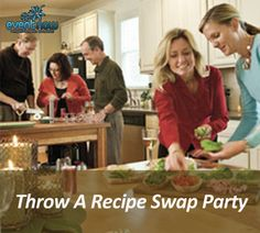 Throwing a recipe exchange party would be fun! Everyone make one or two recipes, bring them along with cards with the instructions and share!