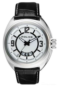Police - Men's Leather Strap Gambler Watch - 13404JS-04  RRP: £125.00 Online price: £75.00 You Save: £50.00 (40%)  www.lingraywatches.co.uk Police Watches, Men's Leather, Online Price, Accessories, Jewelry