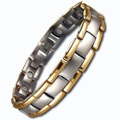 Amazon.com: Willis Judd New Mens Golf Titanium Magnetic Therapy Bracelet in Velvet Box with Free Link Removal Tool: Jewelry