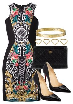"""Style #9019"" by vany-alvarado ❤ liked on Polyvore featuring Versace, Chanel, Christian Louboutin and Ana Khouri"