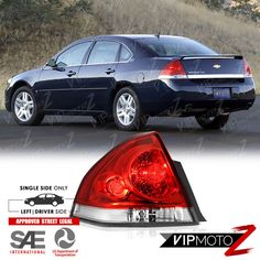 Fits 06-14 CHEVROLET IMPALA TAIL LIGHT//LAMP  Driver Side Left Only