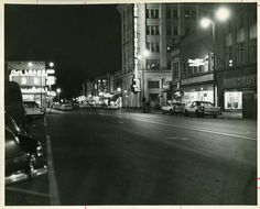 Downtown Marion looking South on Washington St. Circa late '50s or early '60s.