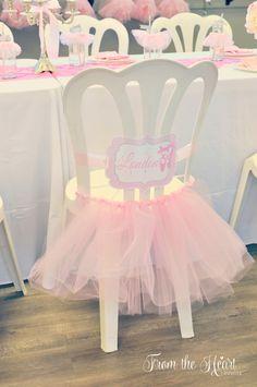 Tutus & Ties 4th Birthday Party via Kara's Party Ideas : where ballerinas sit #Ballerina #party #cute #adorable #prettyperfectparty