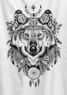 Wolf T-shirt König des Nordens Spiel der Throne von HallelujahPrint