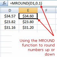 Excel MROUND Function - Rounding Numbers in Excel
