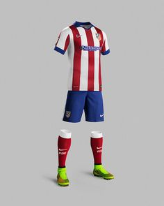 c13c4ae3b The new Atlético Madrid Kits are sponsored by Azerbaijan. The Atlético Home  Shirt features a classical kit design. The Atlético Madrid Away Shirt  features ...