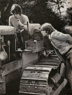 Brian Jones & Mick Jagger...its good to keep interested in other things in case your musical career doesn't pan out.